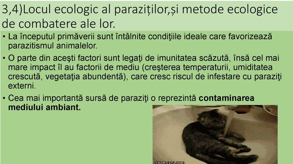 controlul paraziților la om)