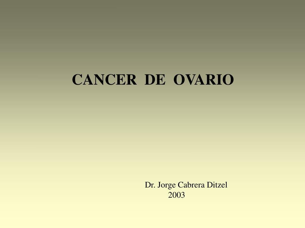 cancer epitelial de ovario ppt origine papillomavirus