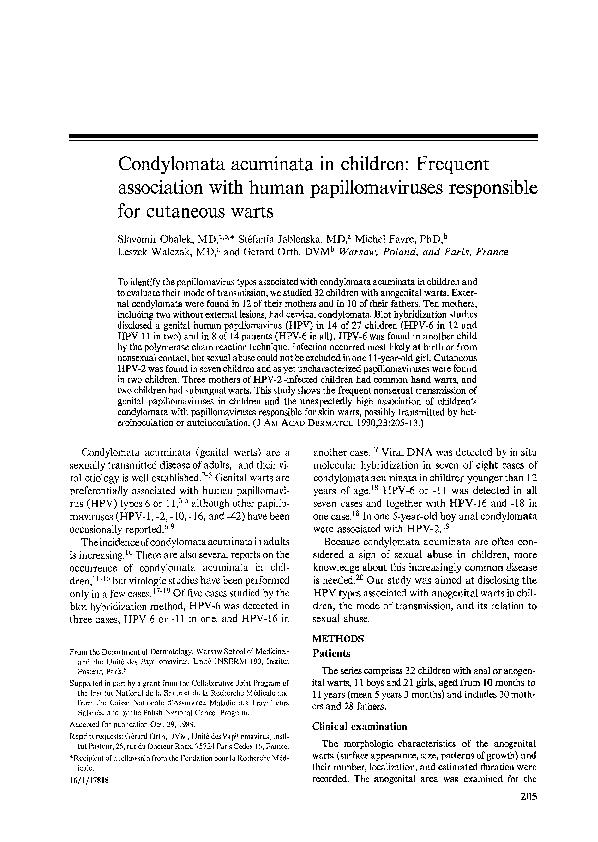 Condyloma acuminata în timpul sarcinii