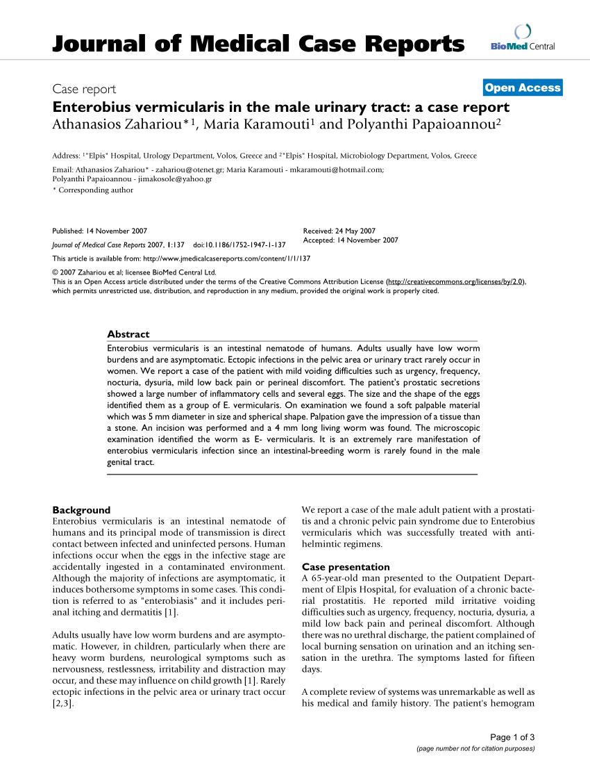 enterobius vermicularis review