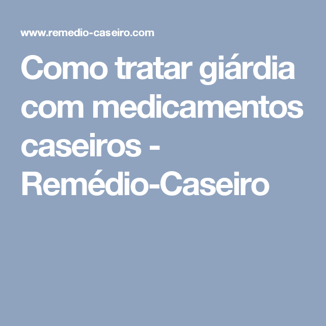remedio giardia umane