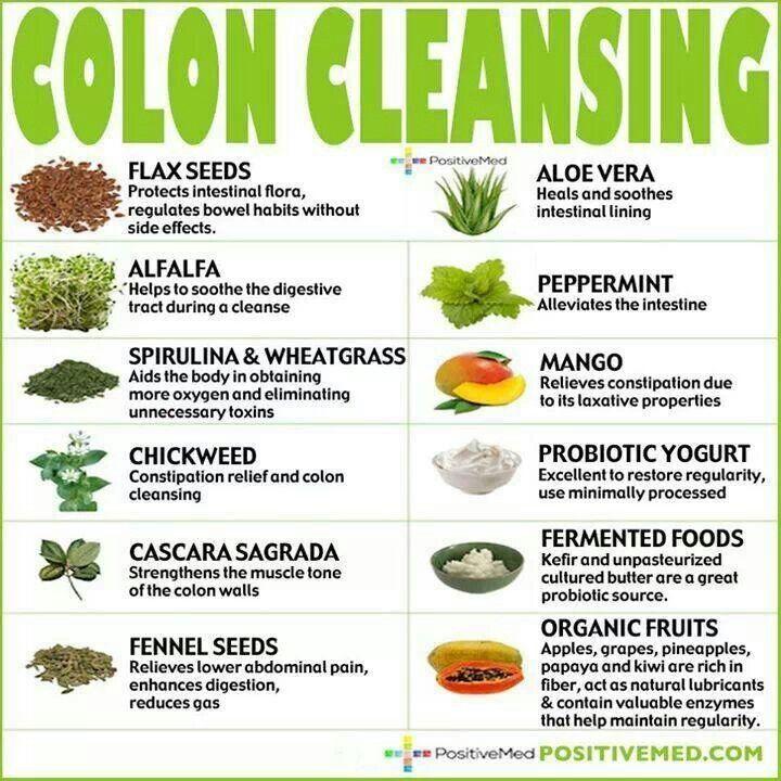 Colon detox se curăță natural, Alimente care curata colonul